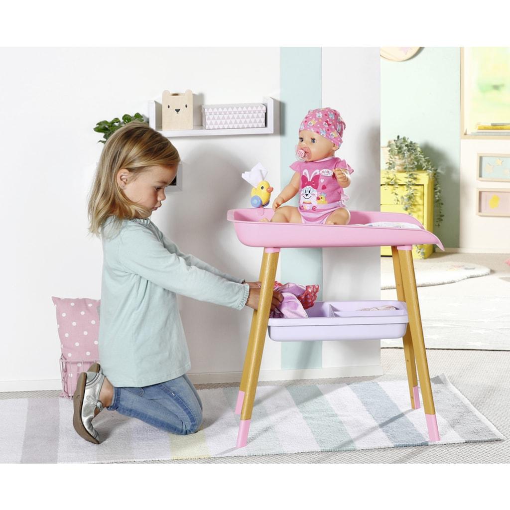 Baby Born Puppenwickeltisch, mit Wickelauflage und Tuchhalter