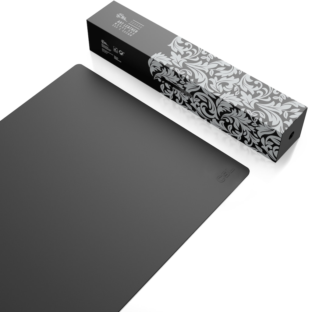 CSL Mauspad »Elegante Leder Optik / 900 x 400 mm Mousepad«, Schreibtischunterlage