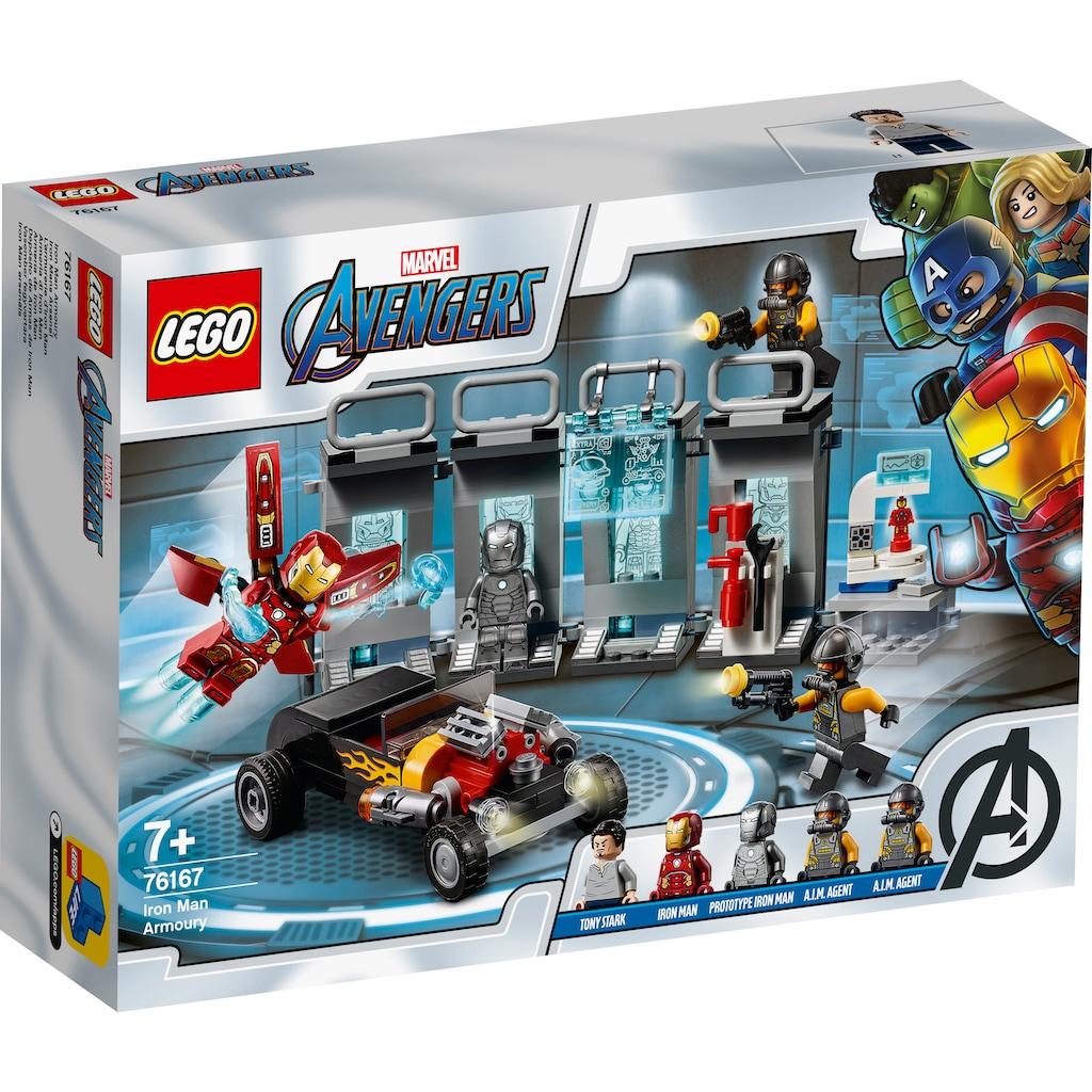 LEGO® Konstruktionsspielsteine »Iron Mans Arsenal (76167), LEGO® Marvel Super Heroes«, (258 St.), Made in Europe