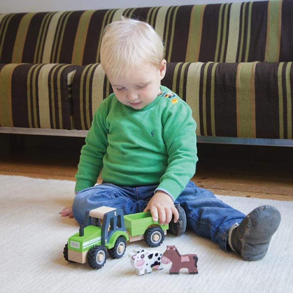 New Classic Toys® Spielzeug-Traktor »Little Driver - Holztraktor«, mit Anhänger