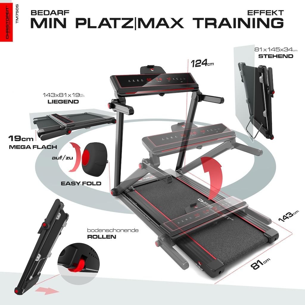 Christopeit Sport® Laufband »TM 750 S«, 100% vormontiert, nur 19 cm flach