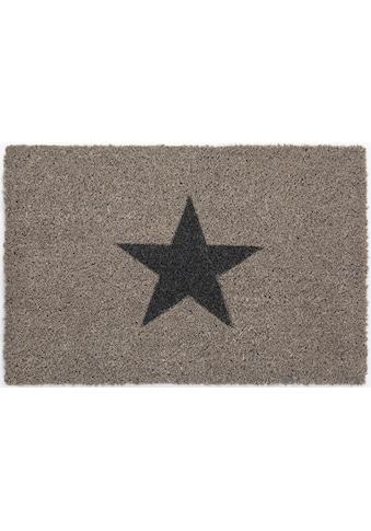 Fußmatte, »Kokos Star«, Andiamo, rechteckig, Höhe 15 mm, maschinell zusammengesetzt kaufen