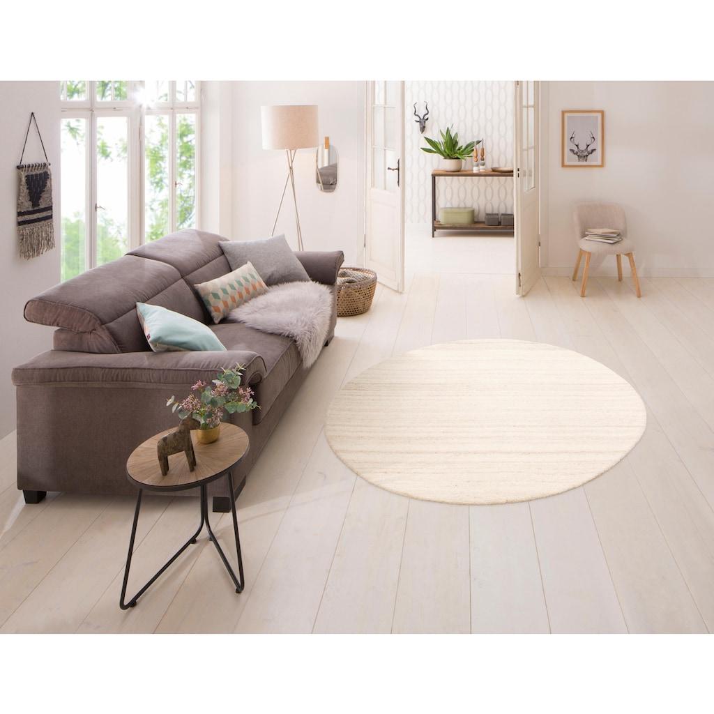 COUCH♥ Wollteppich »Tarik«, rund, 18 mm Höhe, reine Wolle, COUCH Lieblingsstücke, Wohnzimmer