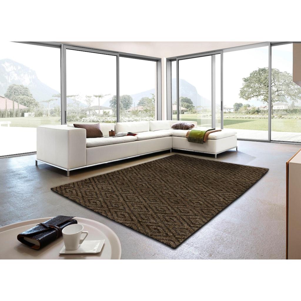 ASTRA Teppich »Carpi Raute«, rechteckig, 15 mm Höhe, Wunschmaß, Wohnzimmer