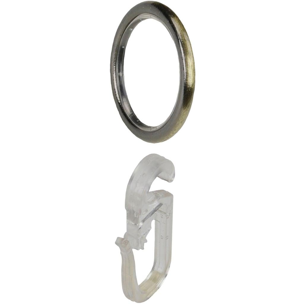 """Liedeco Gardinenring »Gardinenring, Stilring, Ringe für Gardinenrohre 16 mm """"Esperanca""""«, (10 St.), Gardinenring mit Faltenlegehaken"""