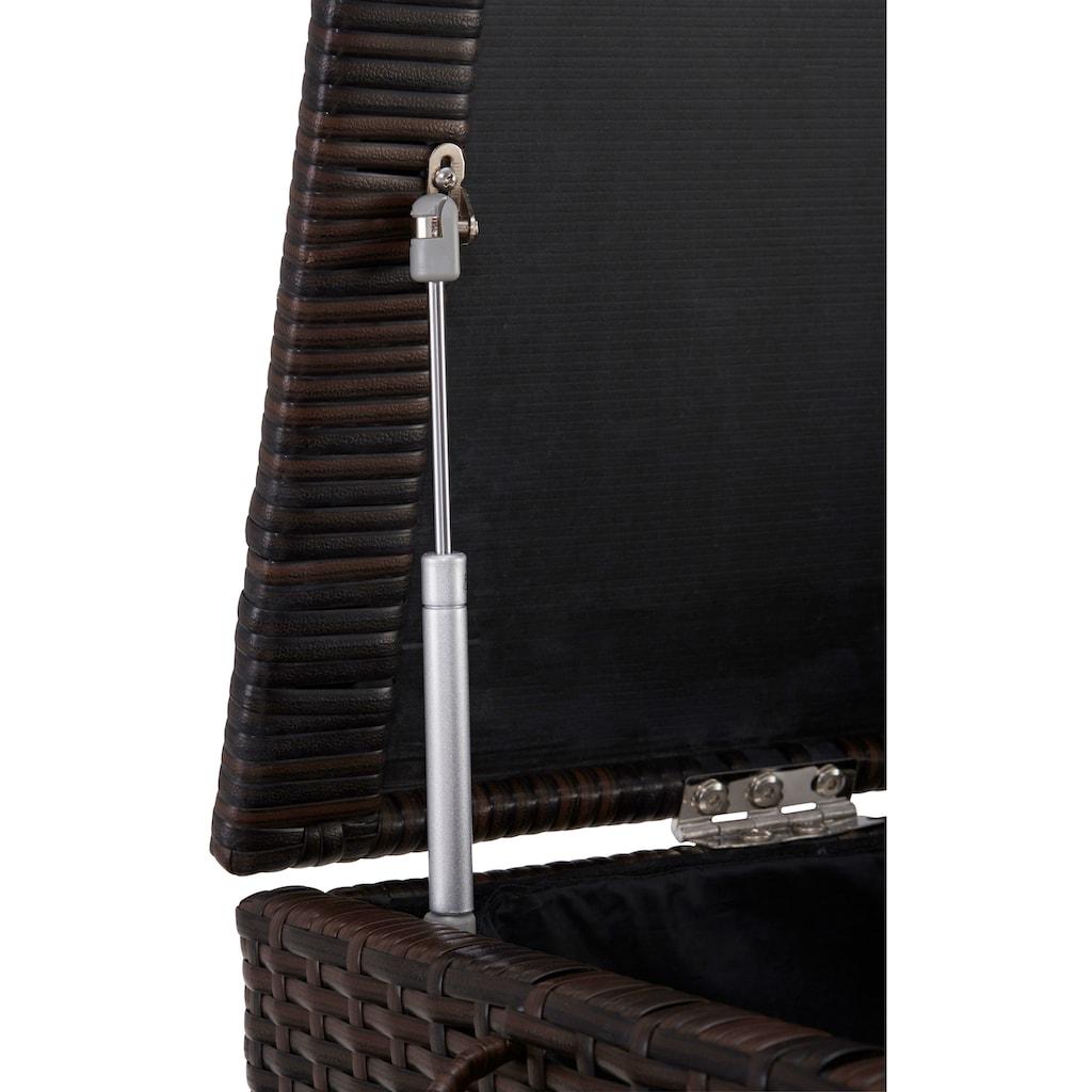 KONIFERA Auflagenbox »Rattan«, Polyrattan, braun