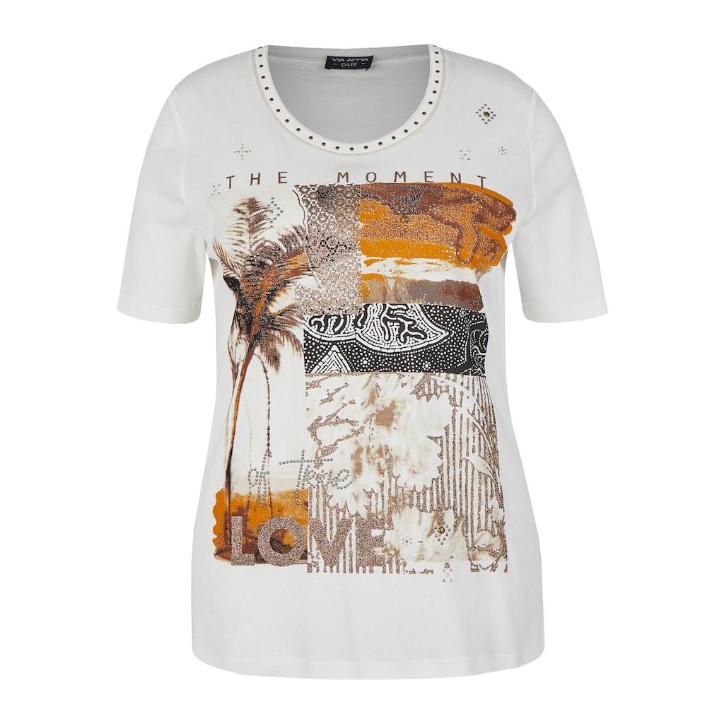 VIA APPIA DUE T-Shirt, mit abstraktem Muster