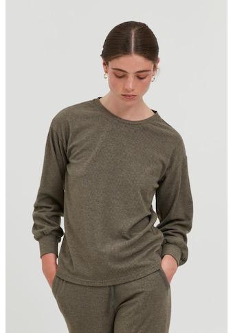 Ichi Sweatshirt »IHKYLA LS 20114625«, Sweatshirt aus geripptem Material kaufen
