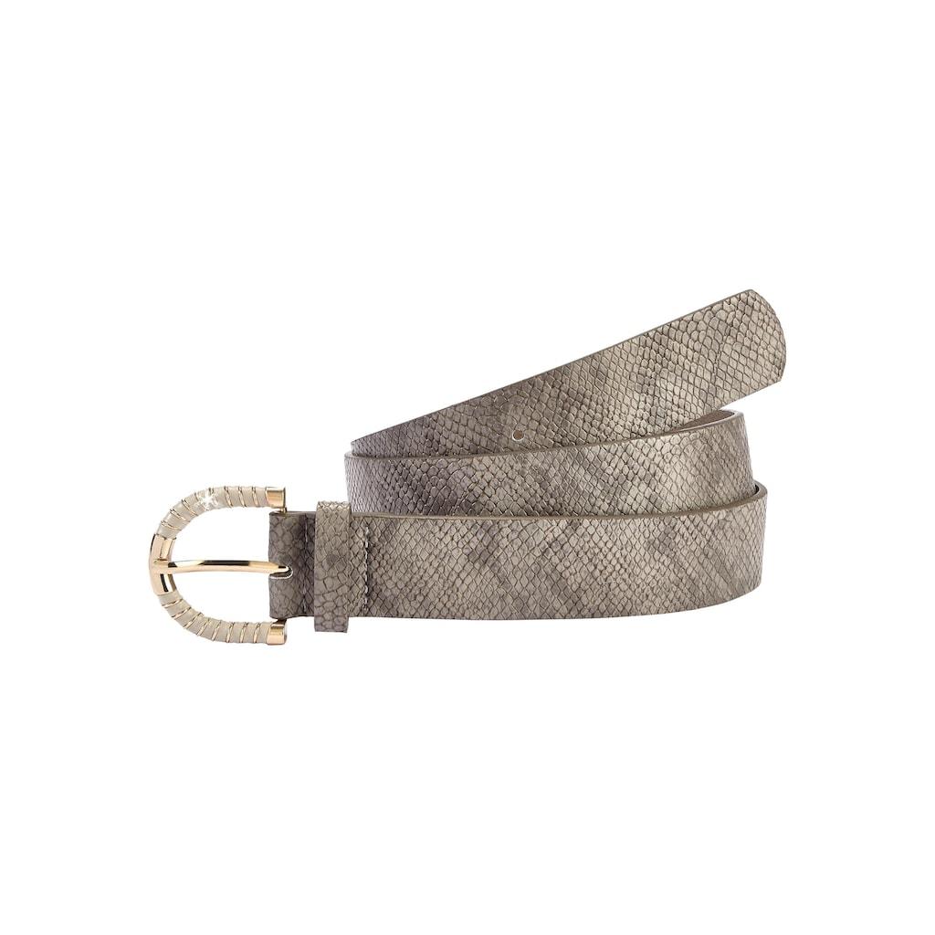 LASCANA Hüftgürtel, mit Snakeprint und modischer Zierschnalle