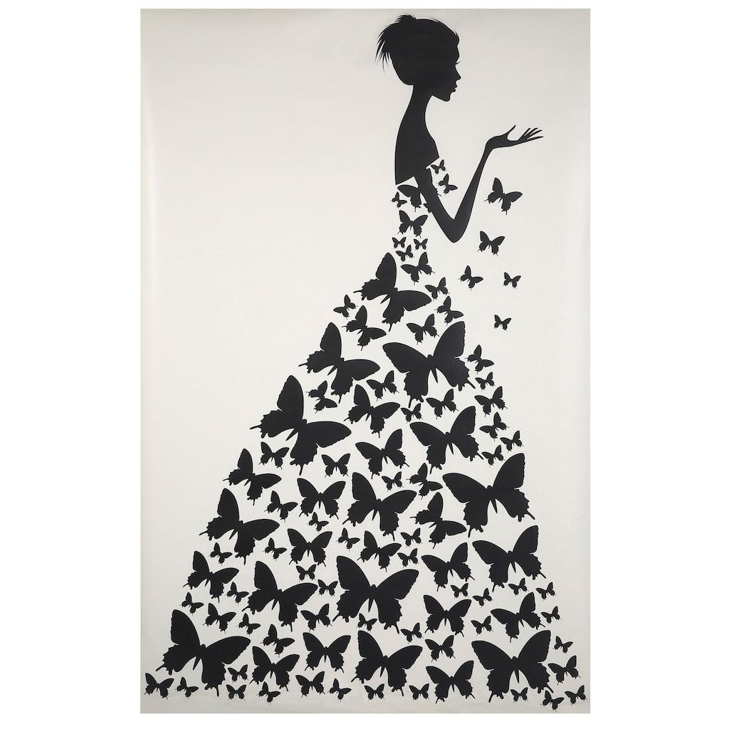 Wall-Art Wandtattoo »Schmetterlingsfrau«
