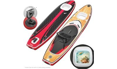 Sportstech Inflatable SUP-Board »WBX_WOODENBLACK«, (Set, 9 tlg., mit Paddel, Pumpe,... kaufen