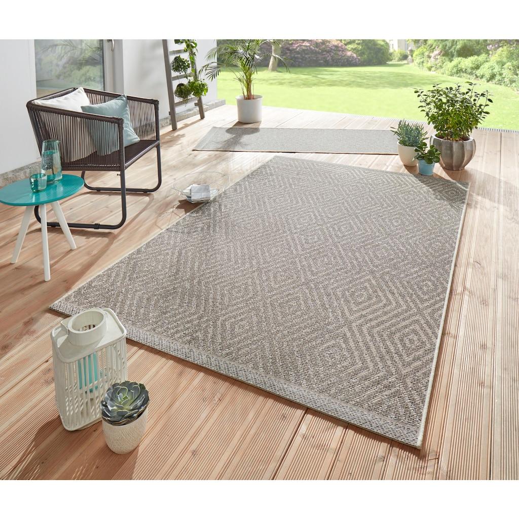 freundin Home Collection Teppich »Sea«, rechteckig, 4 mm Höhe, In- und Outdoor geeignet, Wohnzimmer