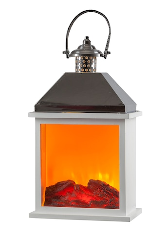 HGD Holz - Glas - Design LED - Holz - Edelstahlkamin mit Kamineffekt für Netzbetrieb mit Time kaufen