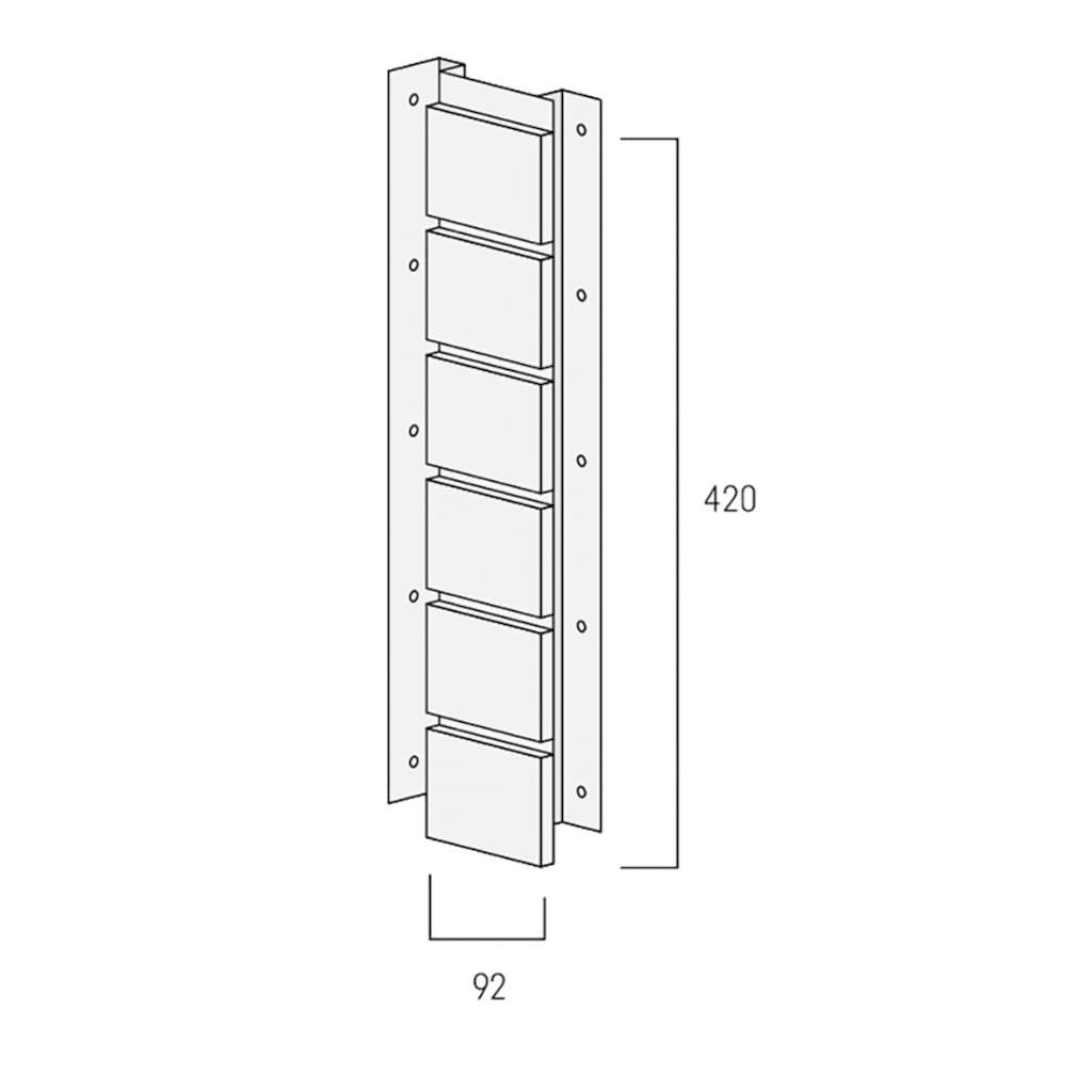Baukulit VOX Verblender »Solid Brick Conventry Innenecke«, weiß