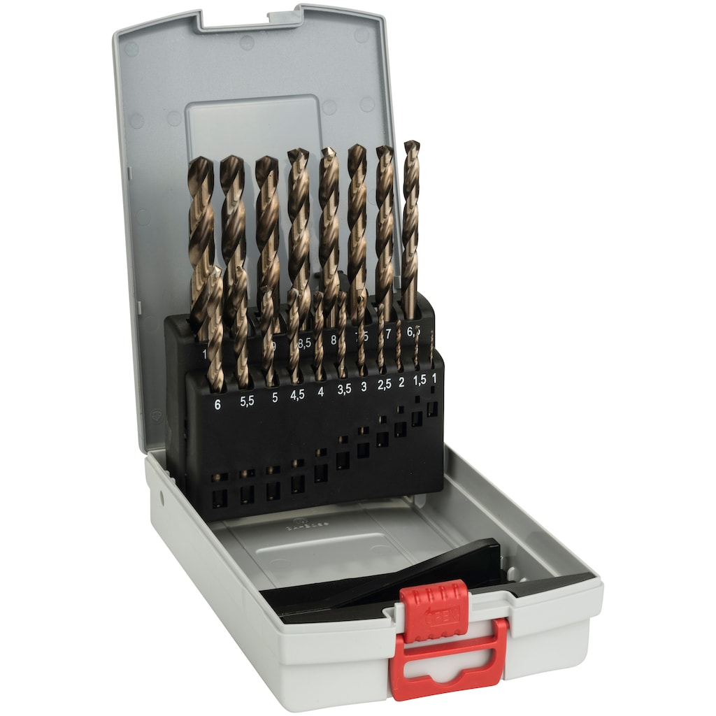 Bosch Professional Metallbohrer »Pro Box HSS-Co 135«, (Set, 19 tlg.)