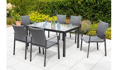 MERXX Gartenmöbelset »Bellino«, (7 tlg.), 6 Gartensessel, Tisch kaufen
