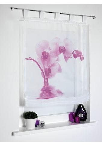 Dreams Raffrollo »Orchidee«, mit Schlaufen kaufen