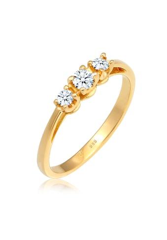 Diamore Diamantring »Verlobungsring Trio Diamant 0.23 ct. 585 Gelbgold« kaufen