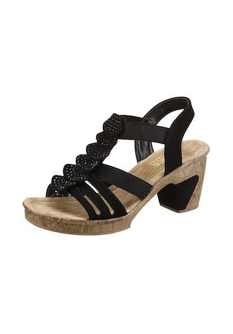 Rieker Sandalette, mit glitzernden Strass-Steinchen kaufen
