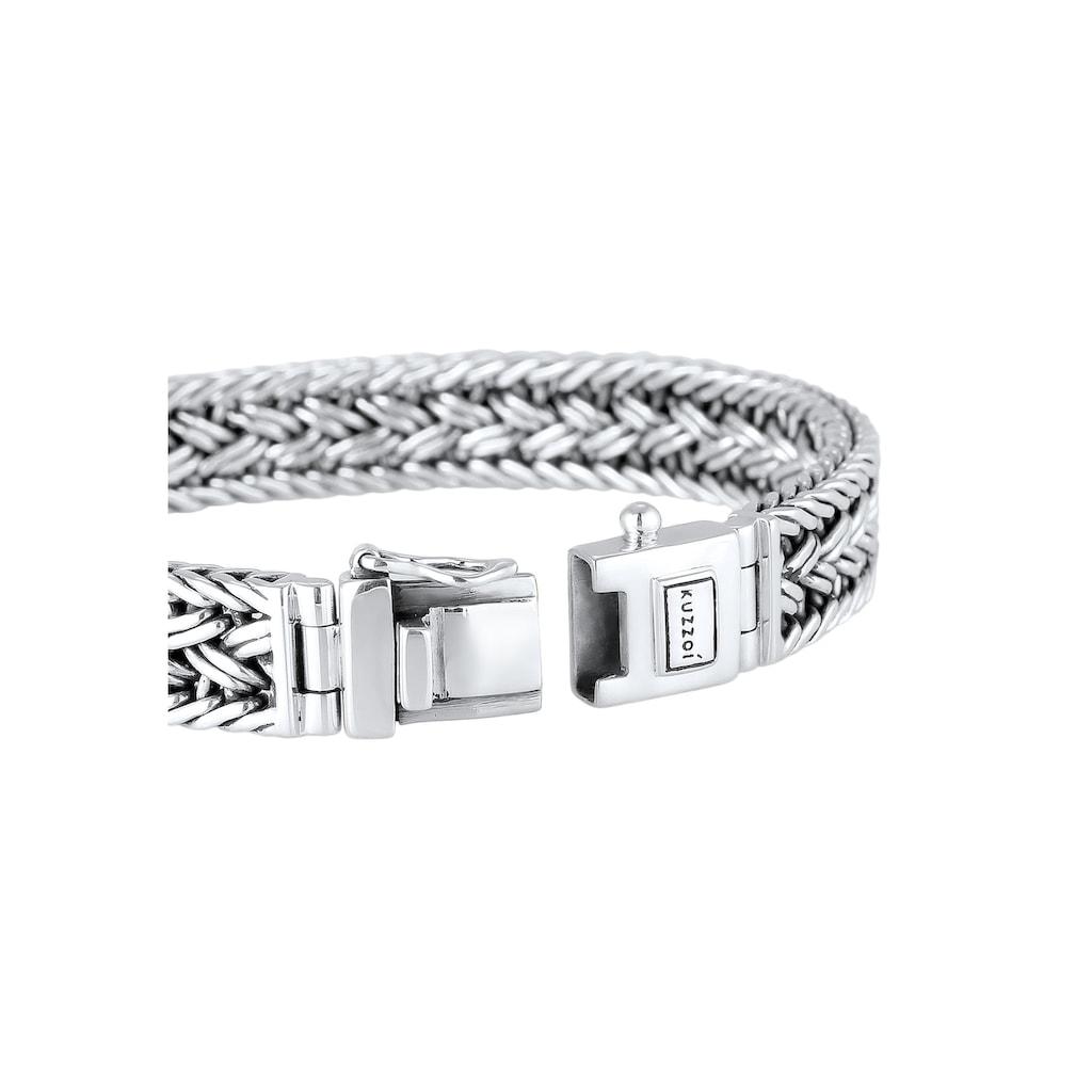 Kuzzoi Armband »Unisex Königskette Kastenverschluss 925er Silber«