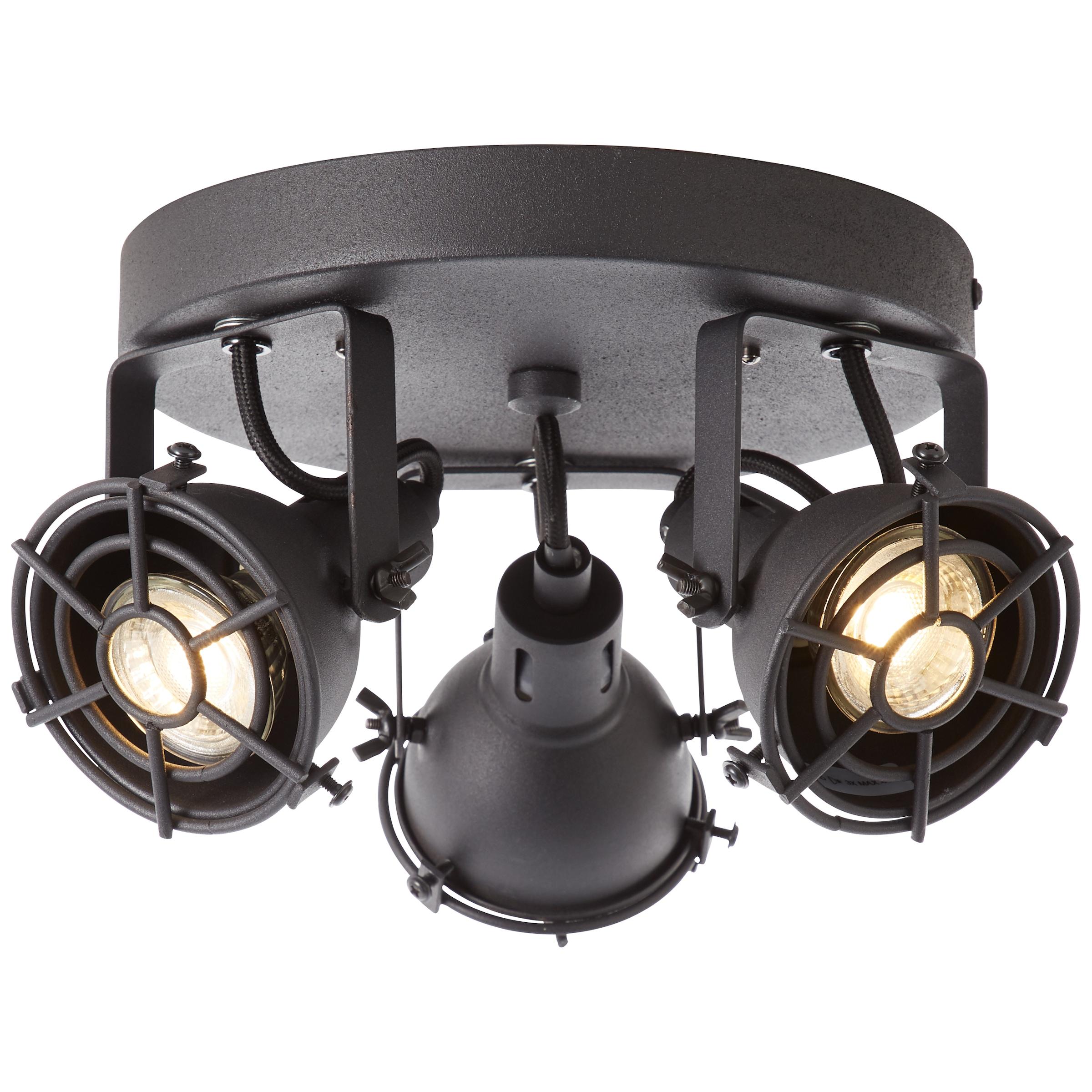 Brilliant Leuchten Jesper LED Spotrohr 4flg schwarz korund