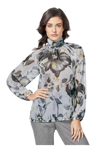 Creation L Bluse mit Blütendessin auf feiner Chiffon - Qualität kaufen