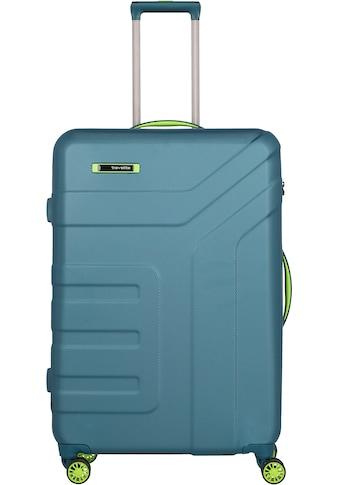 travelite Hartschalen-Trolley »Vector, 77 cm, Petrol/Limone«, 4 Rollen kaufen