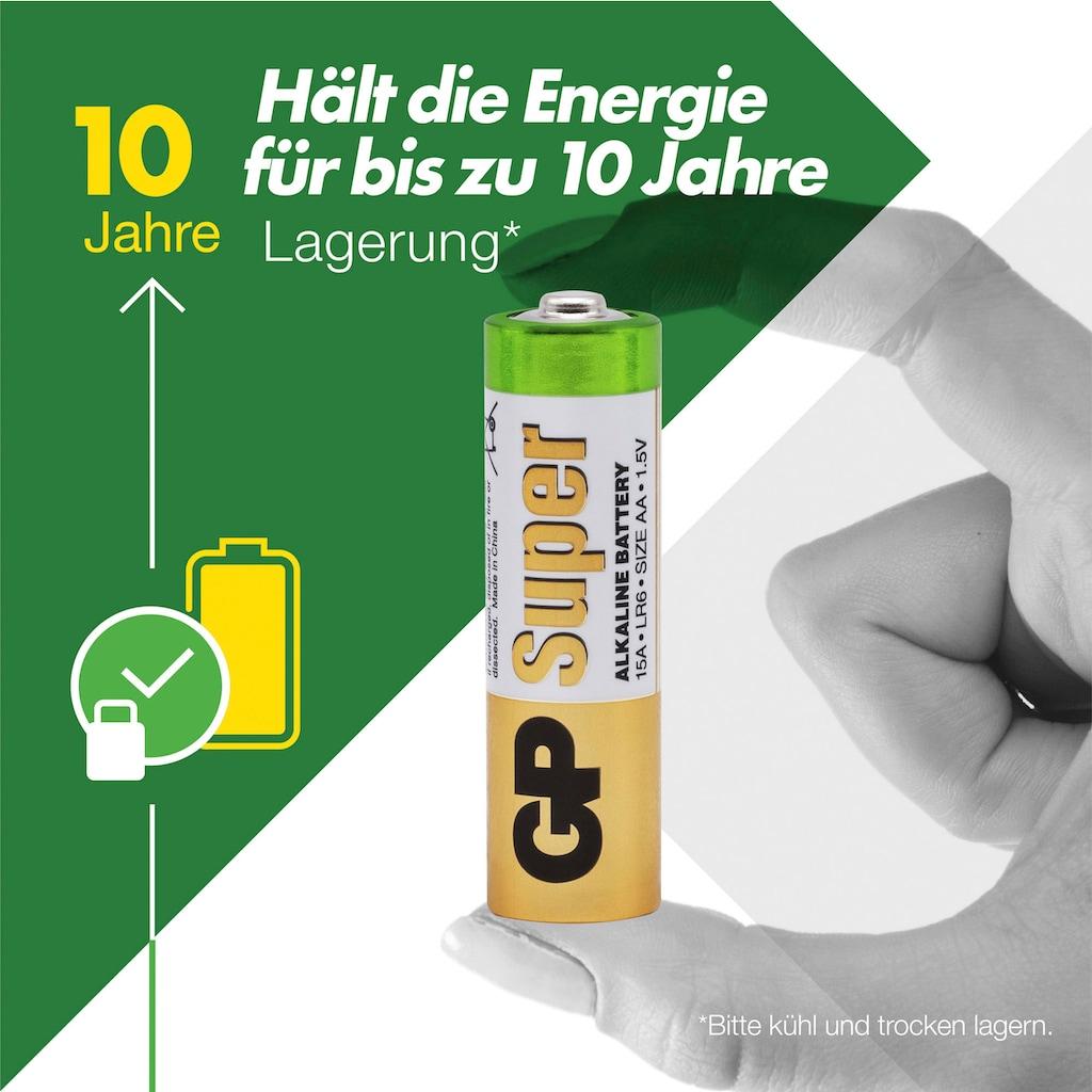 GP Batteries Batterie »Super Alkaline AA - 40 Batterien«, LR6, 1,5 V, (Packung)