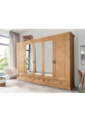 Premium collection by Home affaire Kleiderschrank »Magyc«, aus Massivholz kaufen