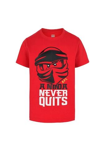 """LEGO® Wear Kurzarmshirt »M12010020«, mit Schriftzug """" A NINJA NEVER QUITS"""" kaufen"""