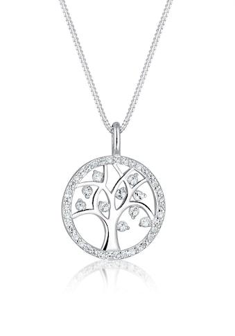 Elli Collierkettchen »Lebensbaum Swarovski® Kristalle Sterling Silber« kaufen