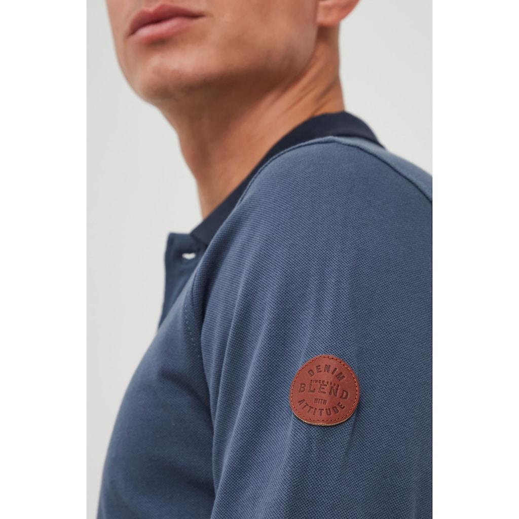 Blend Langarm-Poloshirt »Ralle«, Longsleeve mit verlängerter Rückenpartie