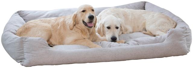 Hundebett mit herausnehmbaren Kissen