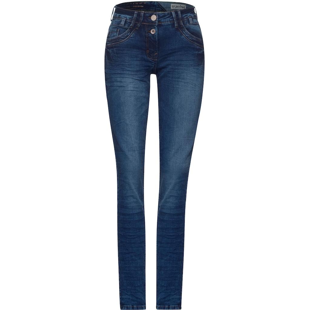 Cecil Loose-fit-Jeans »Style Scarlett«, mit Kontrastnähten