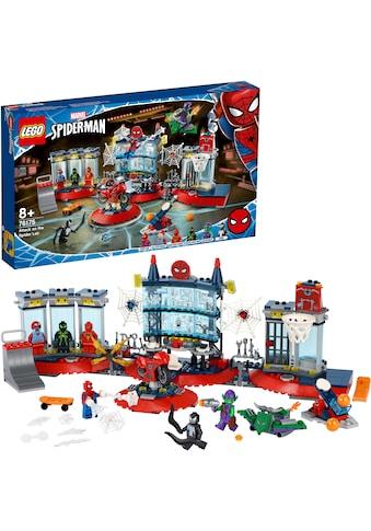 LEGO® Konstruktionsspielsteine »Angriff auf Spider-Mans Versteck (76175), LEGO® Marvel... kaufen