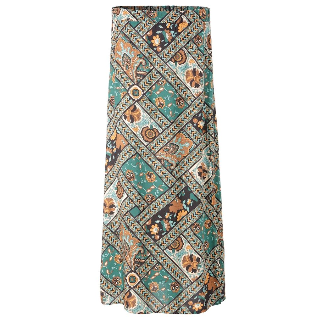 Aniston CASUAL Maxirock, mit Patchdruck - jedes Teil ein Unikat