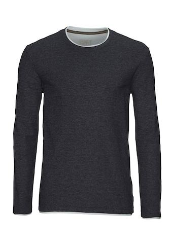 Esprit Langarmshirt, mit Double-Layer-Optik kaufen