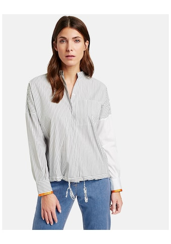 GERRY WEBER Bluse 1/1 Arm »Blusenjacke mit Streifenpatch« kaufen