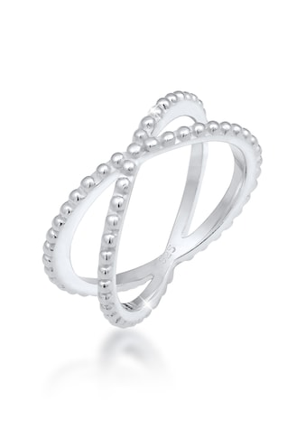 Elli Fingerring »Wickelring Criss Cross Kugel 25 Silber« kaufen