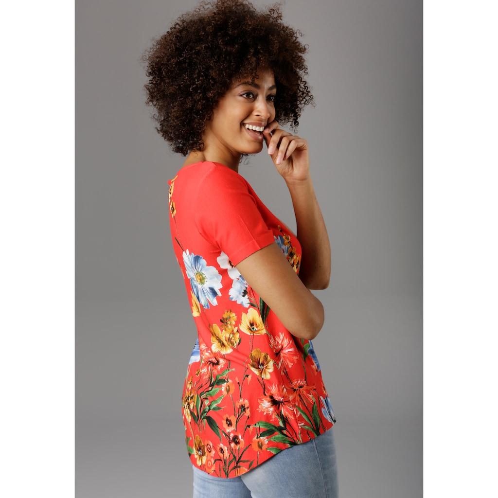 Aniston SELECTED T-Shirt, mit Blumendruck