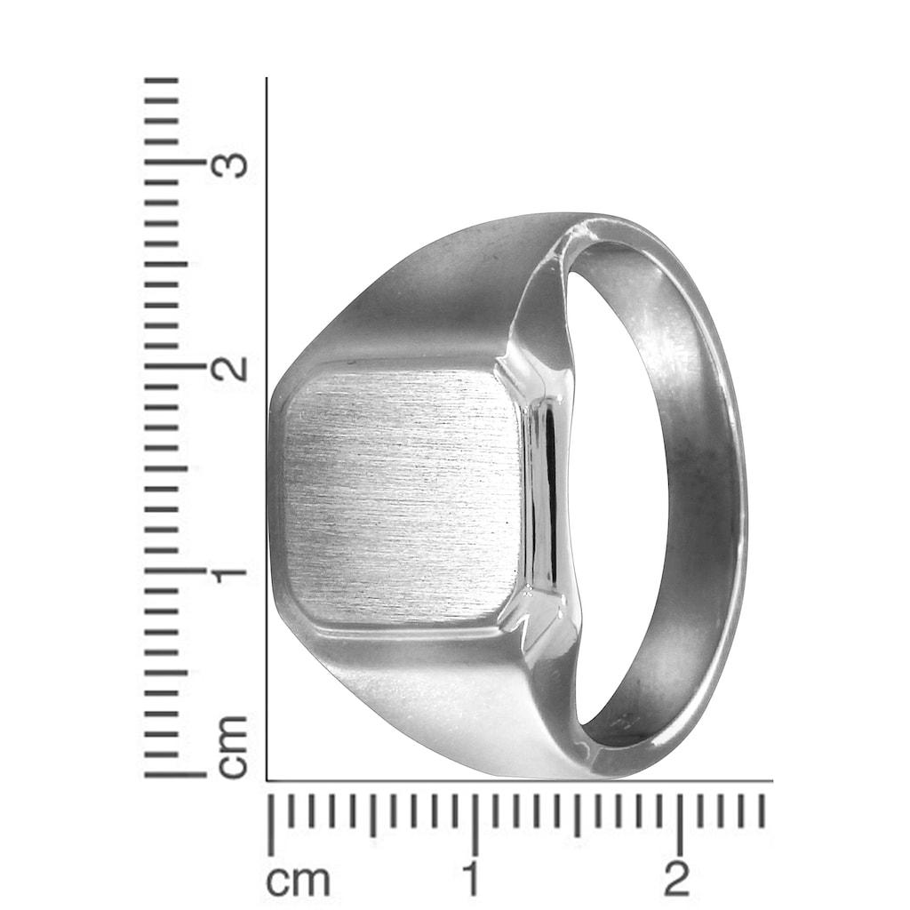 Firetti Silberring »Siegelring, matt, glänzend und massiv«