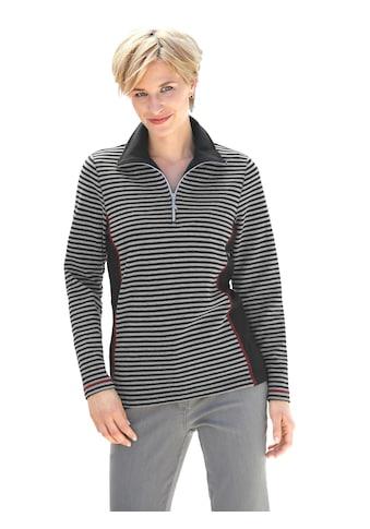 Casual Looks Sweatshirt in weicher Interlock - Qualität kaufen