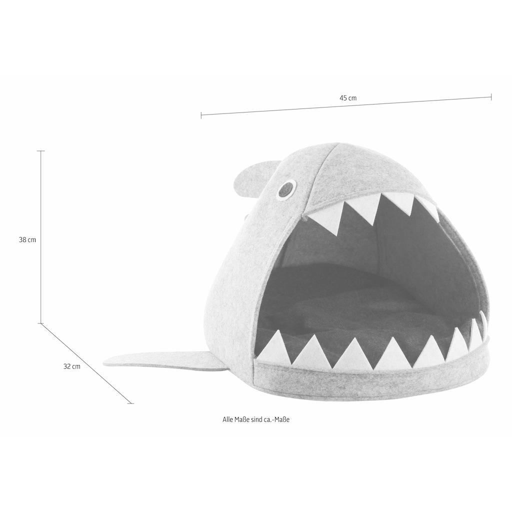 Zeller Present Tierbett »Hai«, Filz, 45x38x32 cm