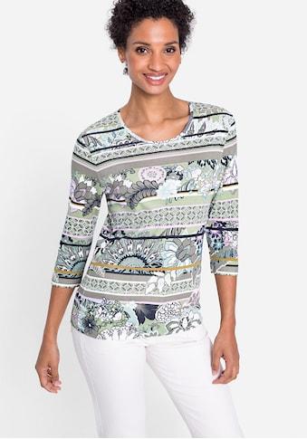 Olsen Rundhalsshirt, mit Mustermix kaufen