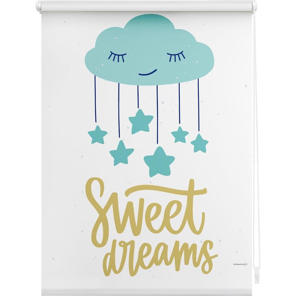 Lüttenhütt Seitenzugrollo »Sweet Dreams«, verdunkelnd, ohne Bohren, im Fixmaß