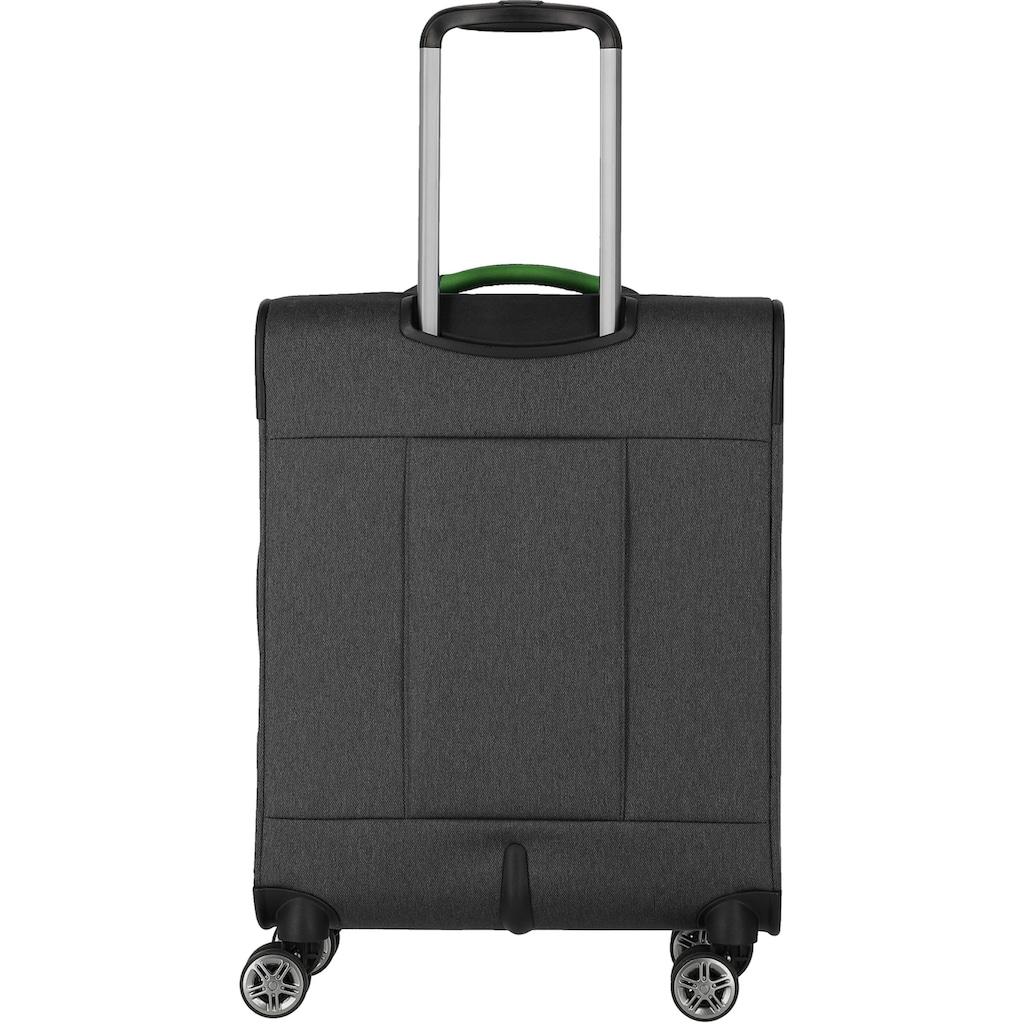 travelite Weichgepäck-Trolley »Madeira, 55 cm, anthrazit/grau«, 4 Rollen