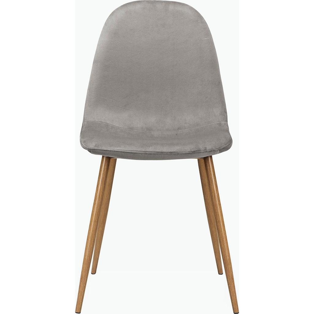 Leonique Esszimmerstuhl »Eadwine«, Polsterstuhl mit Metallgestell, im 1er. 2er und 4er Set erhältlich, Beine in schwarz oder eichefarben