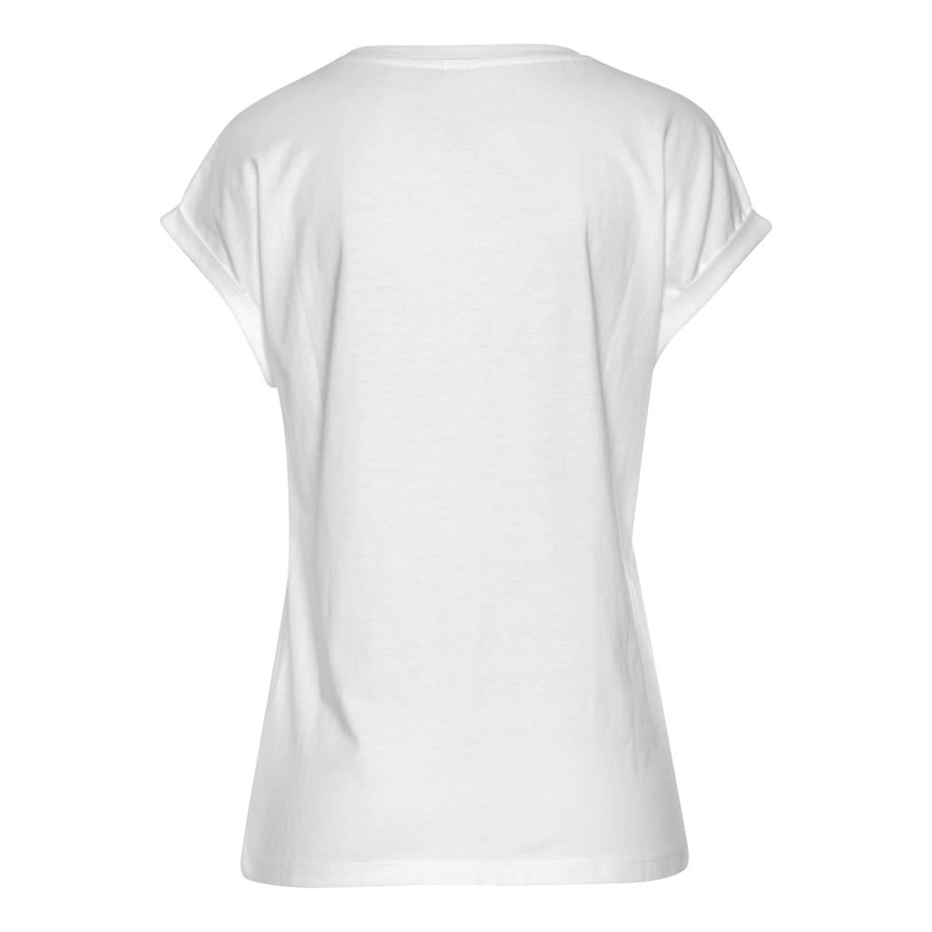 Buffalo T-Shirt, mit Print