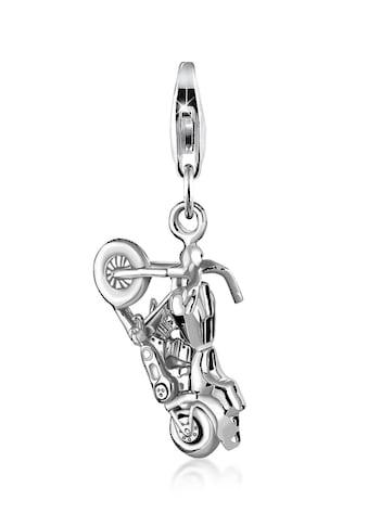 Nenalina Charm-Einhänger »Big Bike-Anhänger Motorrad Cross 925 Silber« kaufen