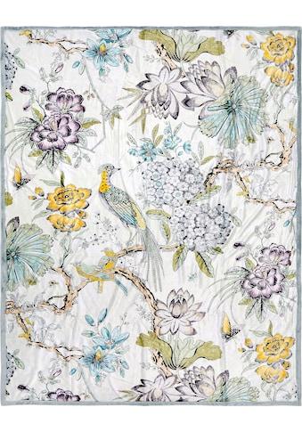 Descanso Plaid »Wood«, mit floralem Muster kaufen